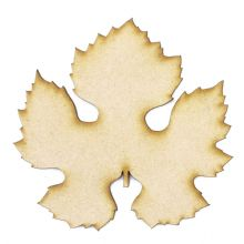 Grape Leaf cut from 3mm MDF, Craft Blanks, Shapes, Tags, Autumn Leaf